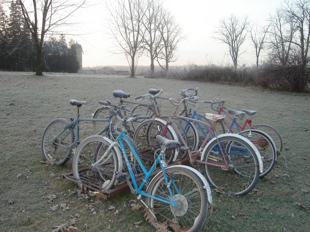 frost on bicycles